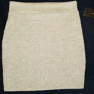 Sparkly Silver Miniskirt